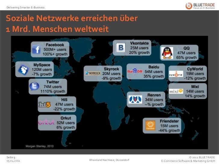 Soziale Netzwerke erreichen über 1 Mrd. Menschen weltweit<br />25.02.2011<br />Rheinland Nachlese, Düsseldorf<br />Seite 9...