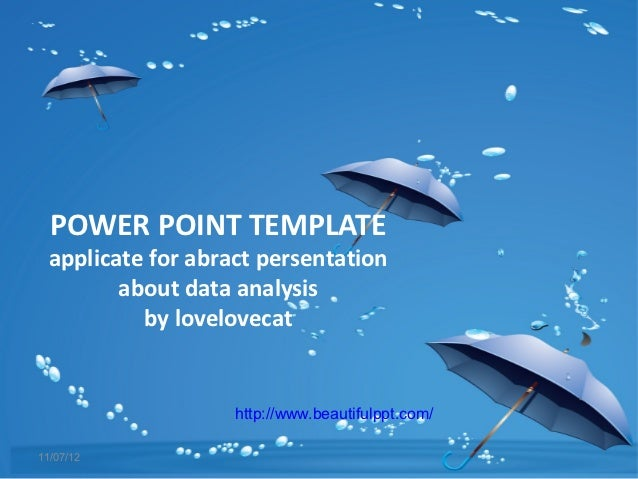Free powerpoint template blue umbrella free powerpoint template blue umbrella power point template applicate for abract persentation about data analysis toneelgroepblik Image collections