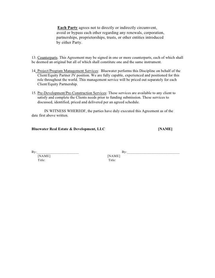 Bluewater Confidentiality Agreement