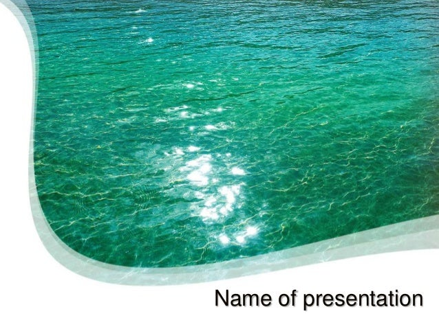 Blue Water Powerpoint Template