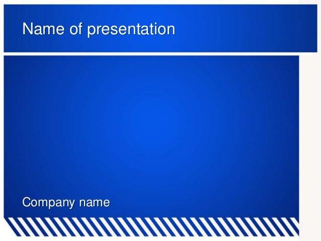 Blue zebra powerpoint template name of presentation company name toneelgroepblik Images