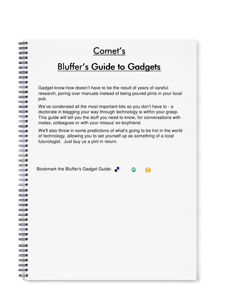Comet'                             Comet's           Bluffer'           Bluffer's Guide to Gadgets  Gadget know-how doesn'...