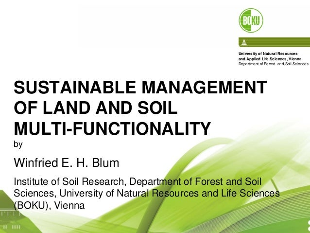 Sustainable management of land and soil multi for Soil use and management