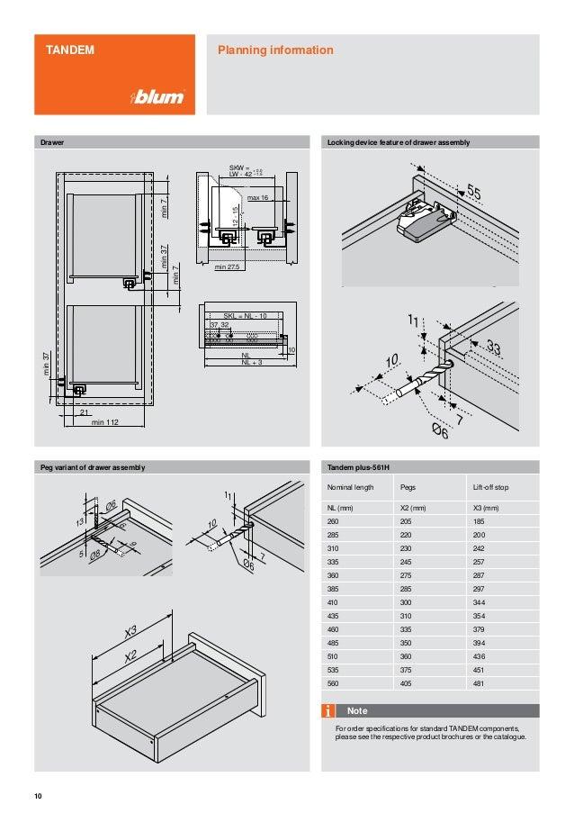 Blum Narrow Cabinets Catalog