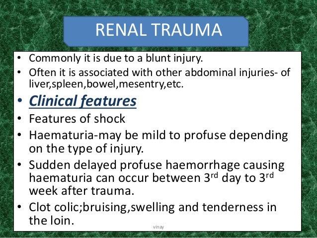 Blunt injury abdomen dissertation