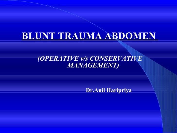 Blunt trauma abdomen