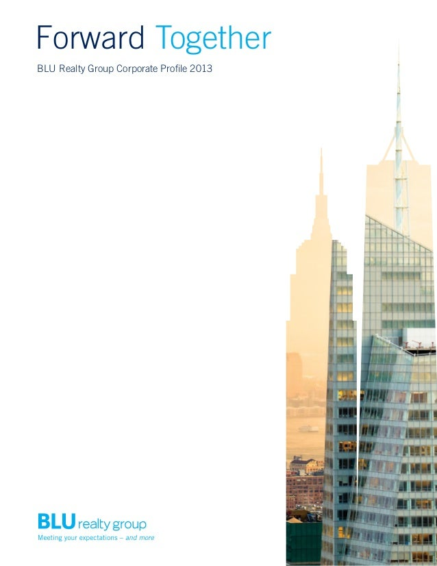 Forward Together BLU Realty Group Corporate Profile 2013