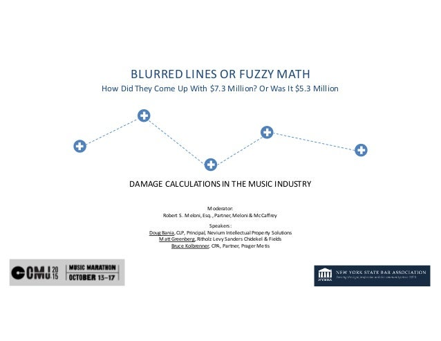 BLURRED	LINES	OR	FUZZY	MATH How	Did	They	Come	Up	With	$7.3	Million?	Or	Was	It	$5.3	Million DAMAGE	CALCULATIONS	IN	THE	MUSI...