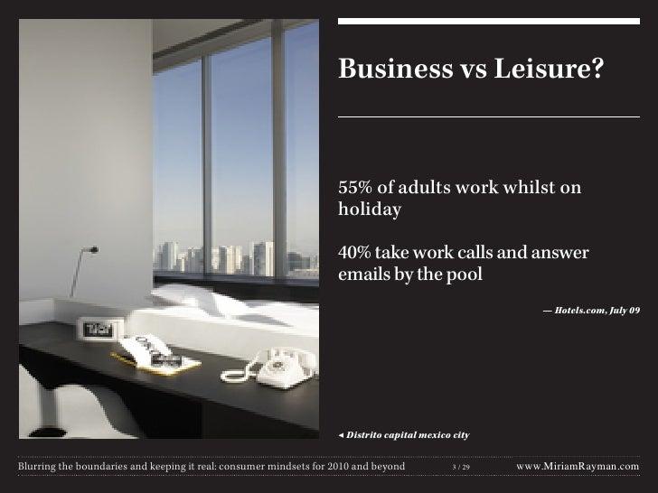Work vs leisure