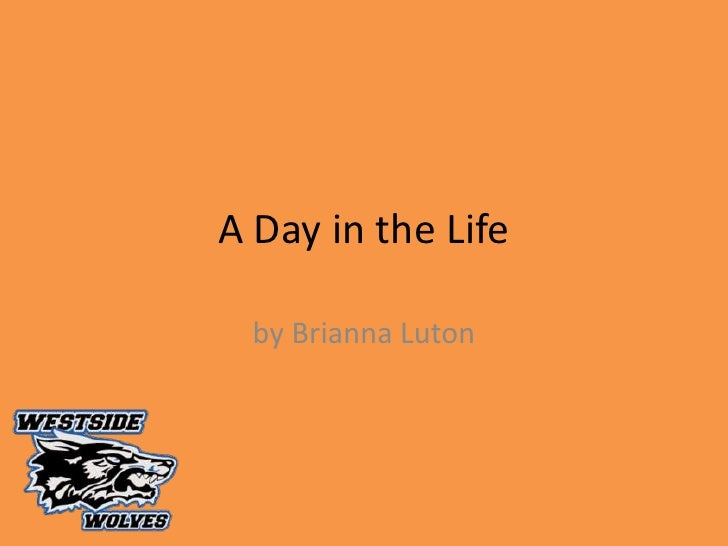 A Day in the Life<br />by Brianna Luton<br />