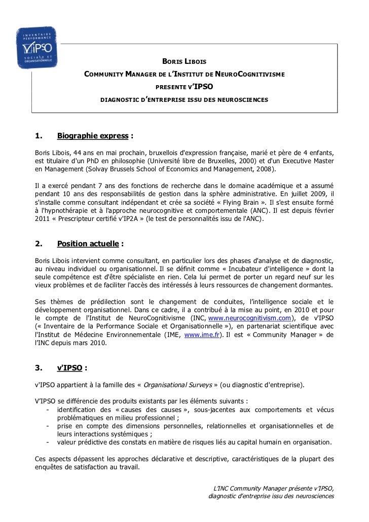 BORIS LIBOIS                COMMUNITY MANAGER DE L'INSTITUT DE NEUROCOGNITIVISME                                        PR...
