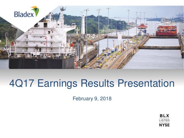 4Q17 Earnings Results Presentation February 9, 2018