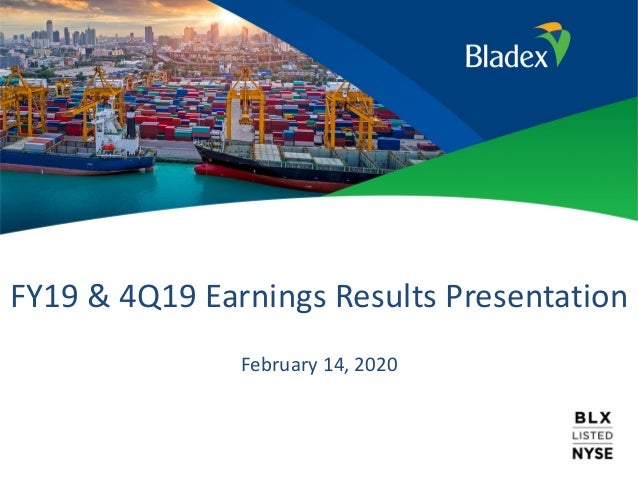 FY19 & 4Q19 Earnings Results Presentation February 14, 2020