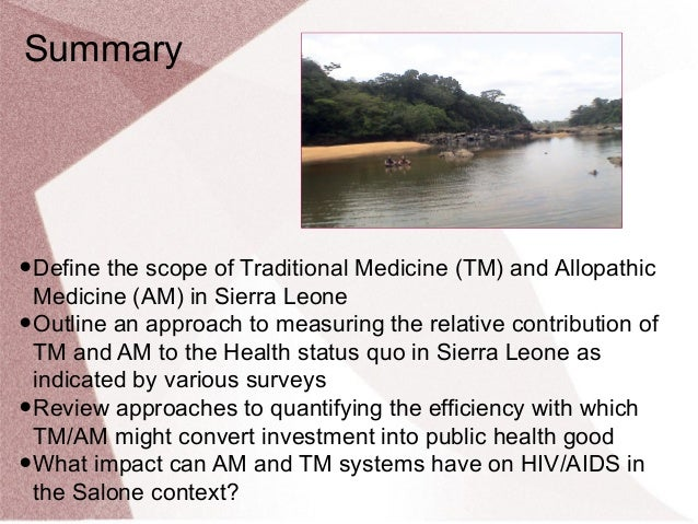 Can Investment in African Traditional Medicine Systems Yield