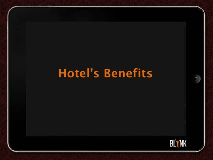 Blynk Hotel - Tablet based Guest Experience & Marketing App