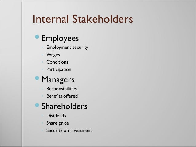 stakeholders employment and business You may not know it, but you are a stakeholder in this lesson, you'll learn about  what a stakeholder is in business, what some related concepts.