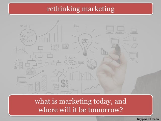 rethinking marketingwhat is marketing today, and where will it be tomorrow?                               Бауржан Исаев