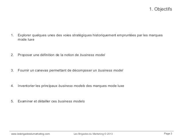 Anatomie des business models des maisons de mode et de luxe Slide 3