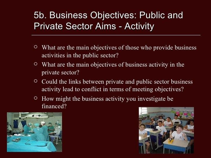 Mission statement public vs private sector