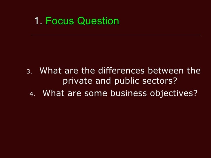 Differences Between Public And Private Sectors
