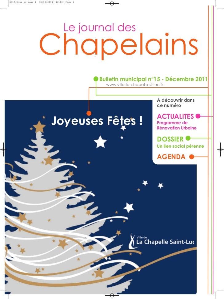 ChapelainsBM15:Mise en page 1   13/12/2011   12:06   Page 1                                           Le journal des      ...