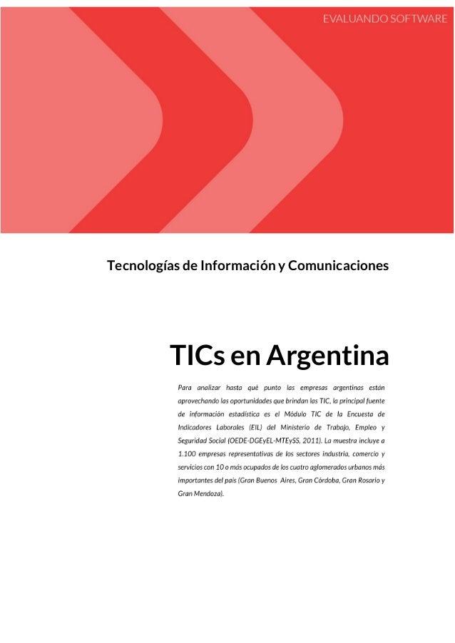 Tecnologías de Información y Comunicaciones TICs en Argentina