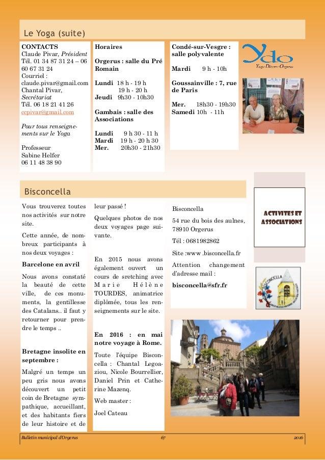 Bulletin municipal orgerus 2016 partie 5 les associations - Controle technique goussainville ...