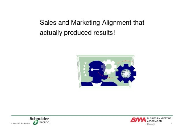 Sales and Marketing Alignment that actually produced results!  T. Insprucker 847-963-8863  1