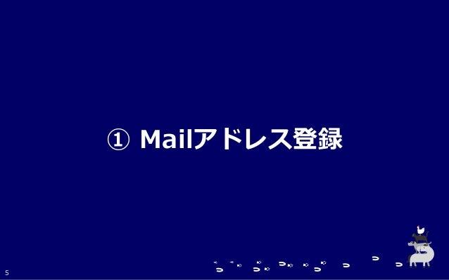 ① Mailアドレス登録 5