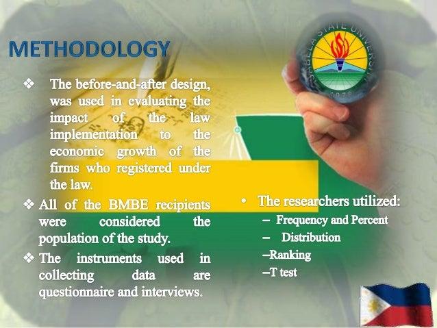 The Barangay Micro Business Enterprise (BMBE)