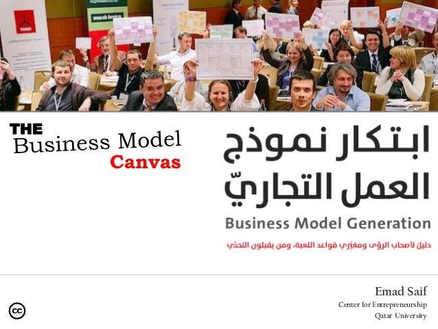 Emad Saif Center for Entrepreneurship Qatar University Canvas THE