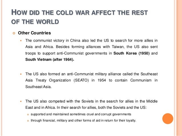 how did the cold war affect the world today