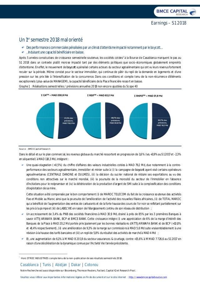Casablanca | Tunis | Abidjan | Dakar | Cotonou Notre Recherche est aussi disponible sur Bloomberg, Thomson Reuters, Factse...