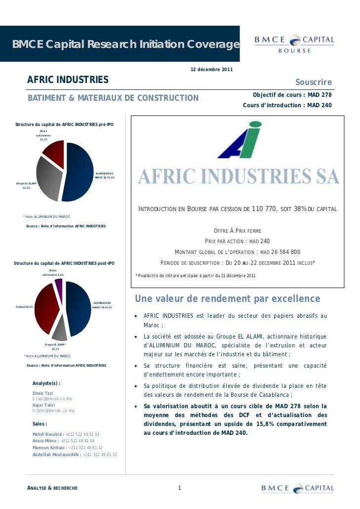 BMCE Capital Research Initiation Coverage                                                                                 ...
