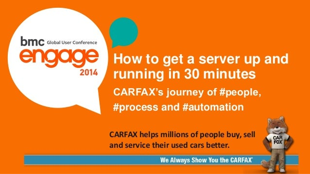 © Copyright 2/3/2015 BMC Software, Inc1 How to get a server up and running in 30 minutes CARFAX's journey of #people, #pro...