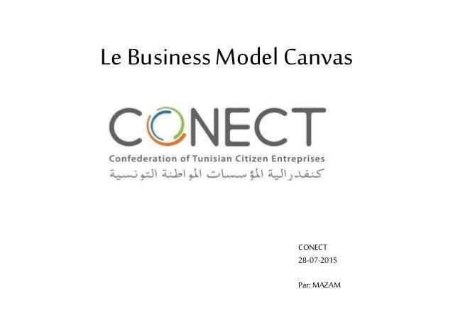 Le Business Model Canvas CONECT 28-07-2015 Par: MAZAM