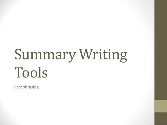 Summary WritingToolsParaphrasing