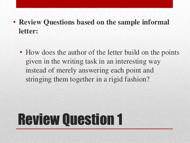 Bmc on englishlanguagecompositionsituational writinginformal le 3 review question spiritdancerdesigns Image collections