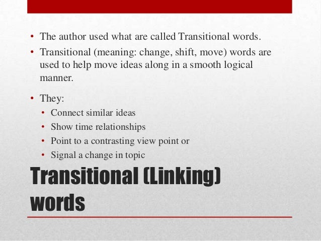 situational transitions essay Transitions essay development  essay development transitions within paragraphs – transitional expressions  this situation, take the case of, to demonstrate, to illustrate edgar allan poe was most popular during the romantic era for his perversely whimsical poetry.