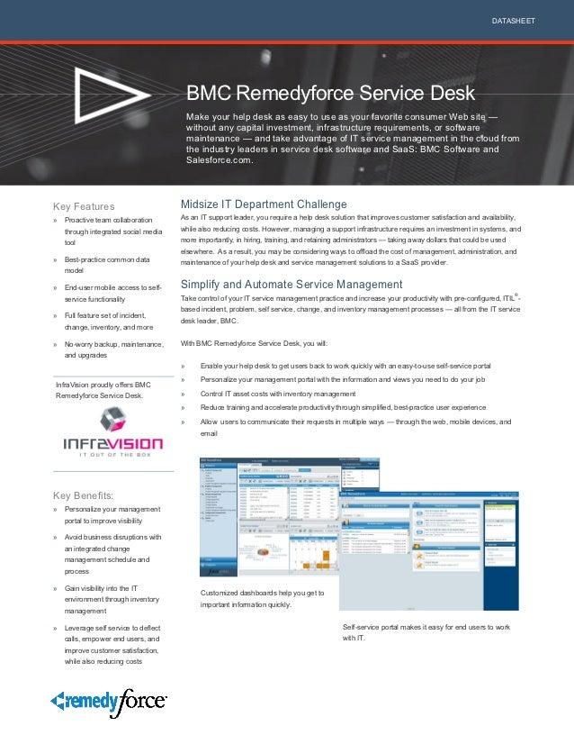 DATASHEET                                         BMC Remedyforce Service Desk                                         Mak...