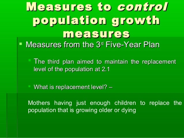 measures to control overpopulation