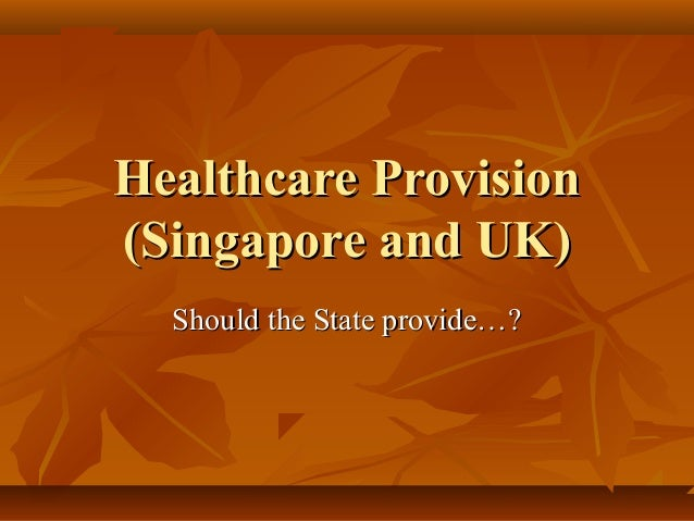 Healthcare Provision(Singapore and UK)  Should the State provide…?