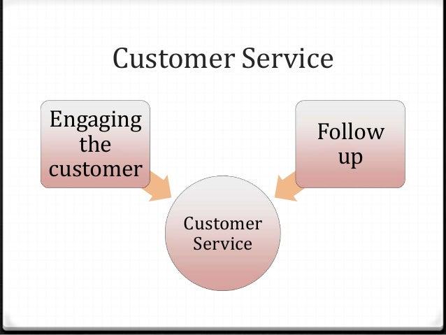 Customer Service Customer Service Engaging the customer Follow up