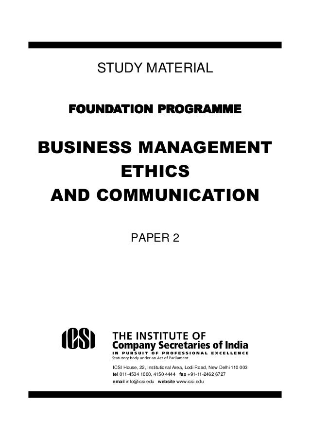 Discussion of Ethics for Business, Government and Society