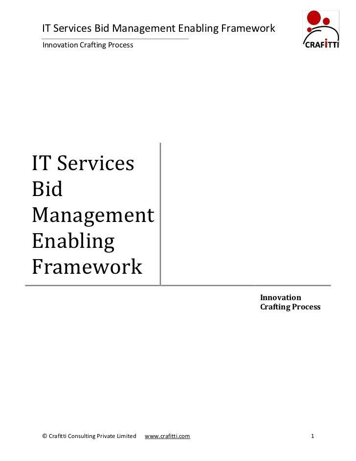 IT Services Bid Management Enabling FrameworkInnovation Crafting ProcessIT ServicesBidManagementEnablingFramework         ...