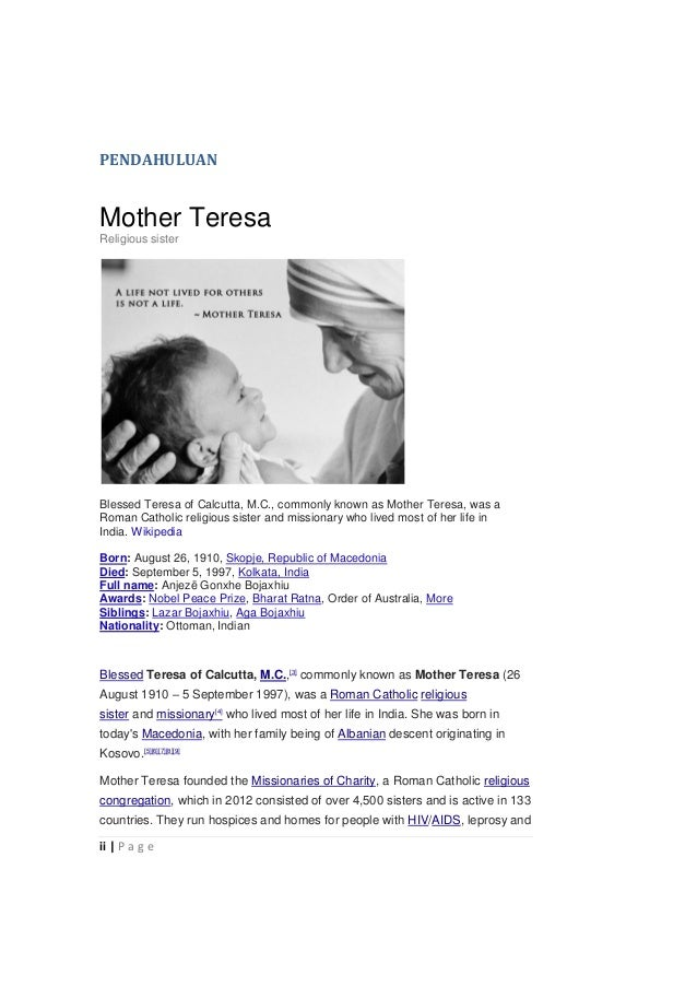 bmf mother teresa quotes
