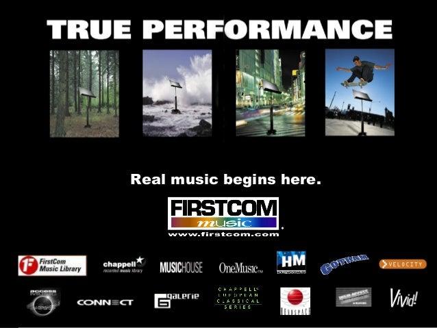 Real music begins here.