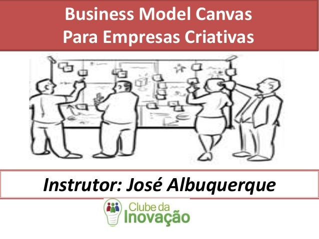 Business Model Canvas Para Empresas Criativas Instrutor: José Albuquerque