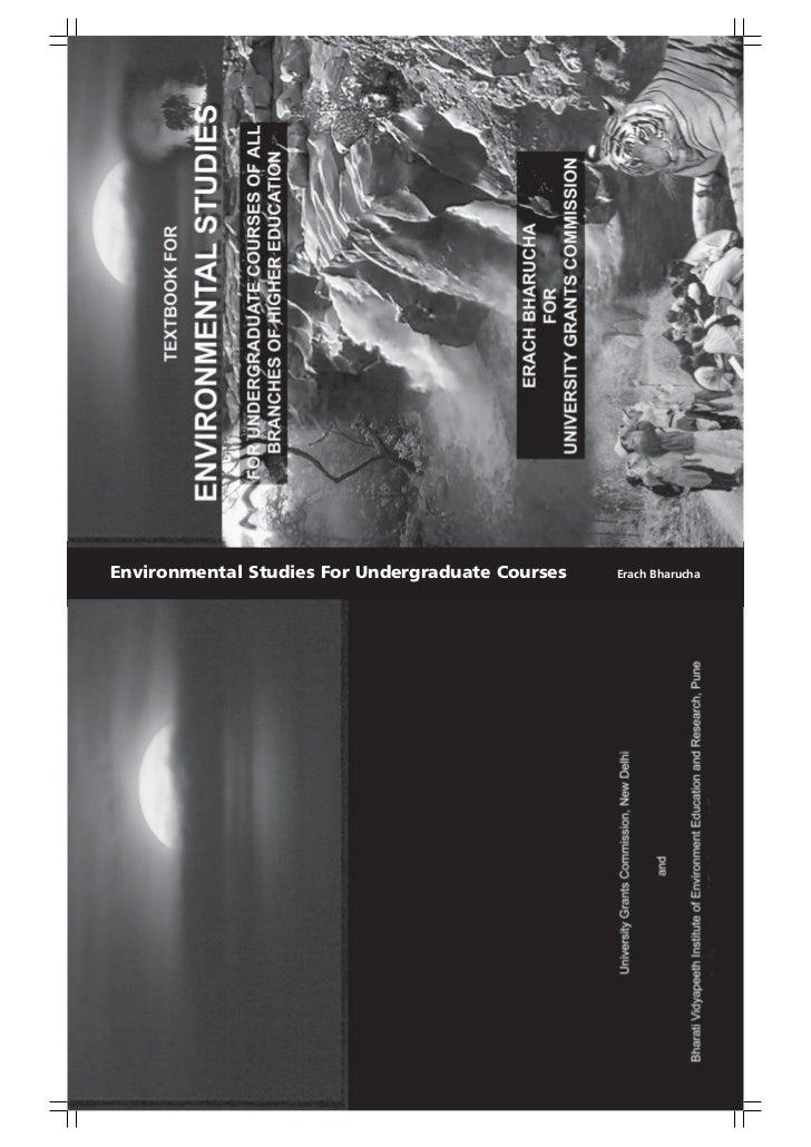 Environmental Studies For Undergraduate Courses   Erach Bharucha