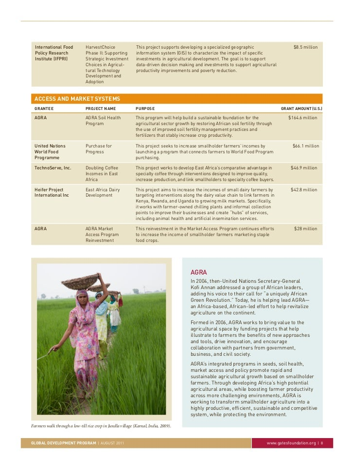 International Food           HarvestChoice                 This project supports developing a specialized geographic      ...